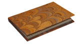 Pocket Marbled Paper Address Book - brown