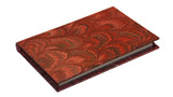 Pocket Marbled Paper Address Book - pink