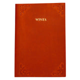 Pocket Leather Wine Journal - Red