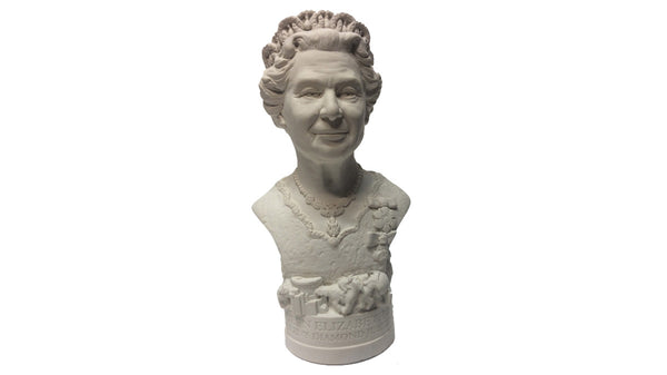Plaster bust of Her Majesty Queen Elizabeth the Second