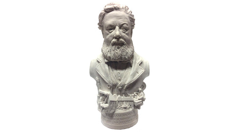 Plaster bust of William Morris