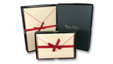Bordered Cotton Writing Paper & Folded Cards - Red