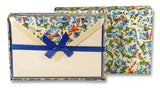Bordered Writing Paper with Firenze Envelopes - Blue Florentine