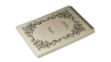 Italian Letterpressed Flip-Top Notepad - cream