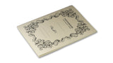 Italian Letterpressed Stitched Notebook - cream
