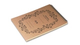 Italian Letterpressed Flip-Top Notepad - light brown