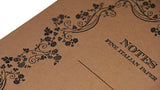 Italian Letterpressed Notebook - light brown
