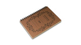 Italian Letterpressed Ringbound Notebook - light brown