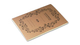 Italian Letterpressed Stitched Notebook - light brown