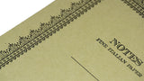 Italian Letterpressed Notebook - light green