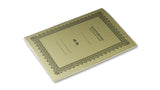 Italian Letterpressed Stitched Notebook - light green