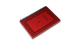 Italian Letterpressed Ringbound Notebook - red
