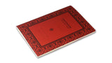 Italian Letterpressed Stitched Notebook - red
