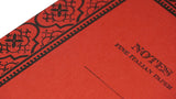Italian Letterpressed Notebook - red