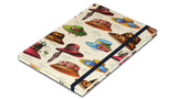 A5 Paperbound Italian Notebook - Hats