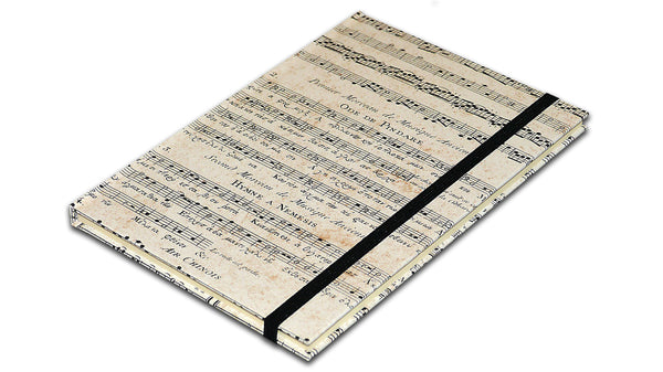 A5 Paperbound Italian Notebook - Old Music Score