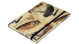 A5 Paperbound Italian Notebook - Owls