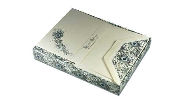 Peacock Feather Writing Paper - A5 paper boxed