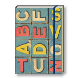 A5 Paperbound Italian Notebook - Alphabet Blocks