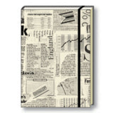 A6 Paperbound Italian Notebook - Old News