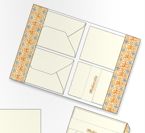Medioevalis Boxed Deckled Edge Stationery