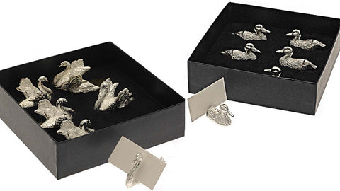 Silver Plated Bird Place Card Holders