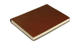 Simple Leather Journal - dark tan, large