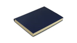 Simple Leather Journal - dark blue, medium