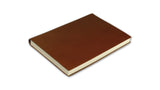 Simple Leather Journal - dark tan, medium