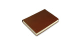 Simple Leather Journal - dark tan, small