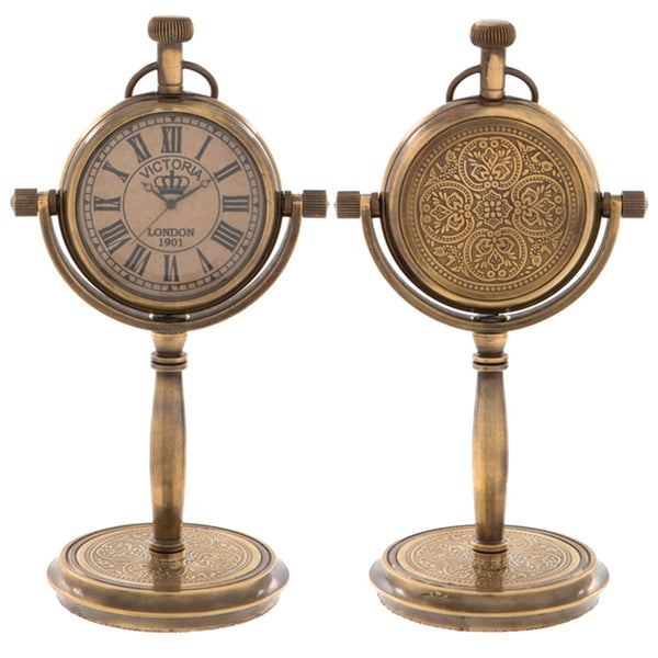 Standing Victoria Clock - Front and Back