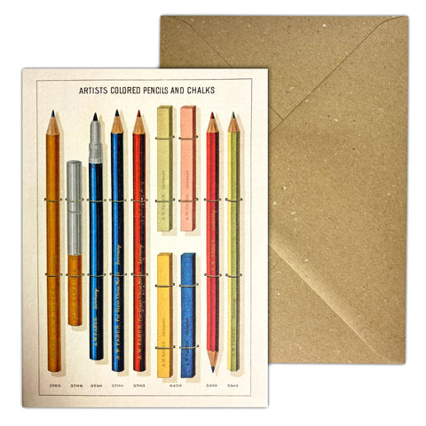 Pencils Greetings Cards