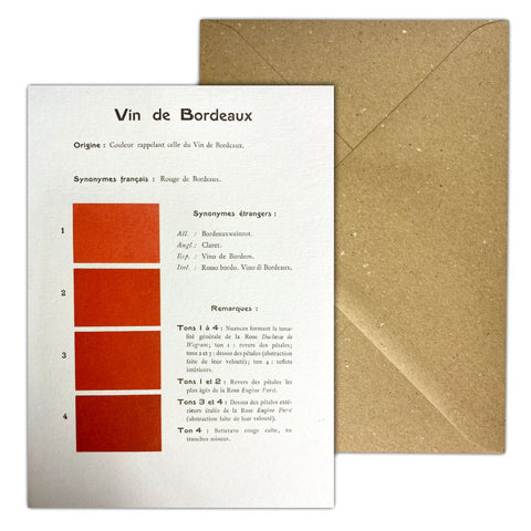 Vin De Bordeaux Greetings Card