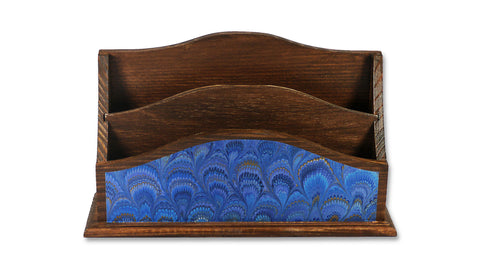 Marbled Letter Rack - Blue