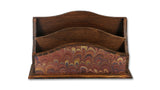 Marbled Letter Rack - Brown