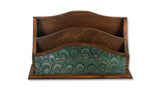 Marbled Letter Rack - Green
