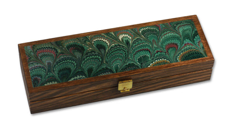 Marbled Pen Box - green