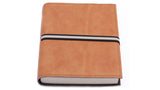 Italian Leather Journal - lined, tan. Can be personalised.