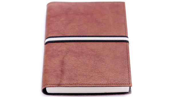 Italian Leather Journal - lined, chocolate. Can be personalised.