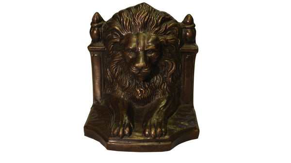 Bookends - bronze lion