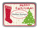 Small Christmas Rubber Stamp Set