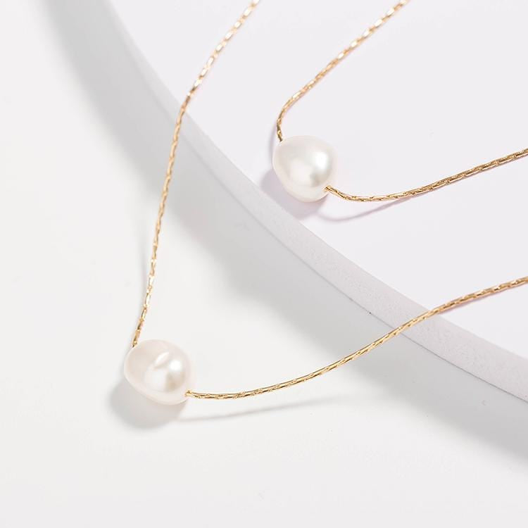 Multilayered Pearl Necklace