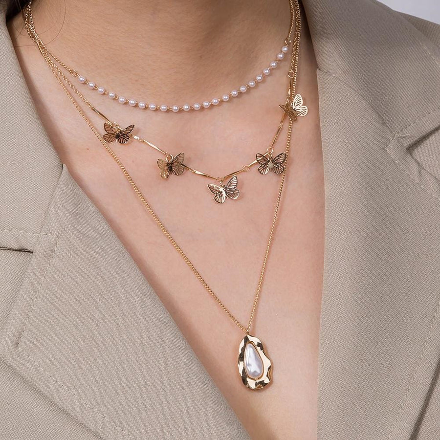 Pearls and Butterflies Necklace