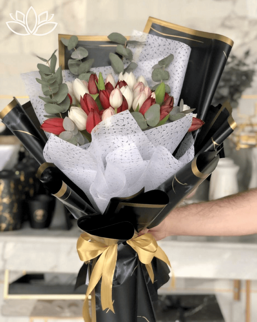 Dark Tulips Bouquet