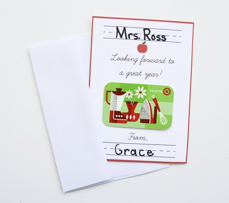 Printable Gift Card Holder - Back To School