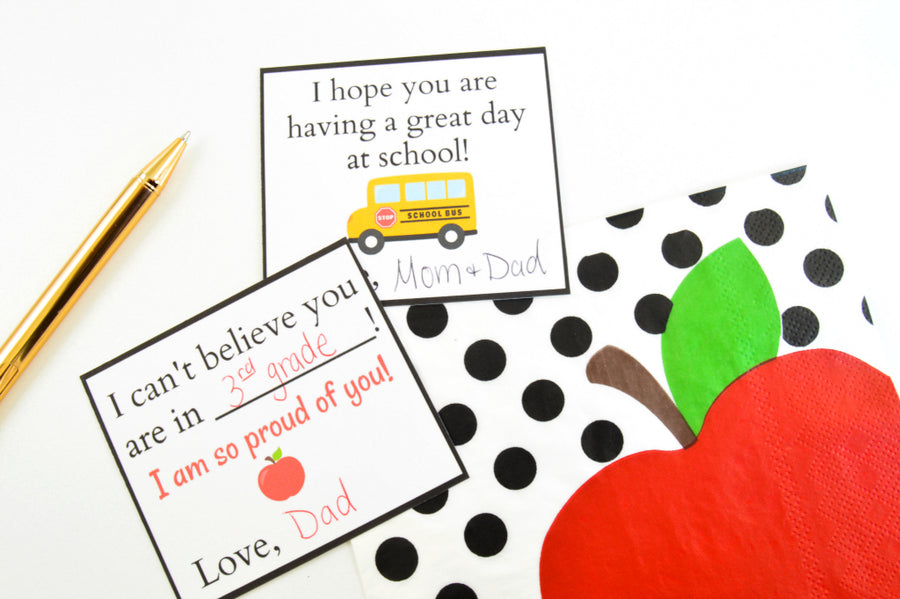 Back to School - Lunch Box Notes