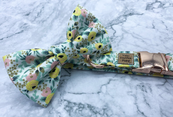Yellow Floral - Bow Tie