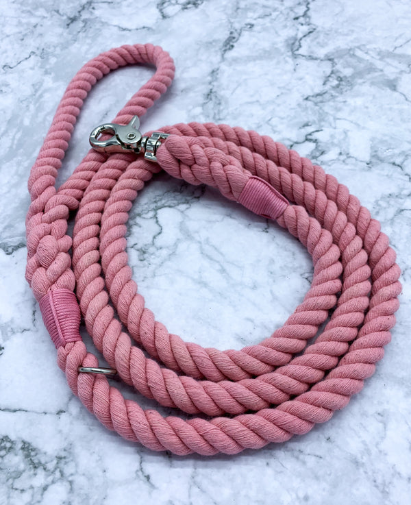 Pink Dog Rope Leash