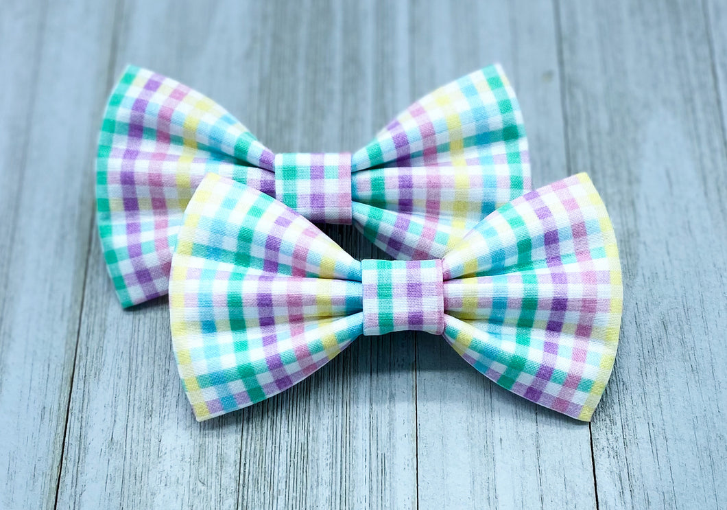Easter Plaid | Dog Bow Tie
