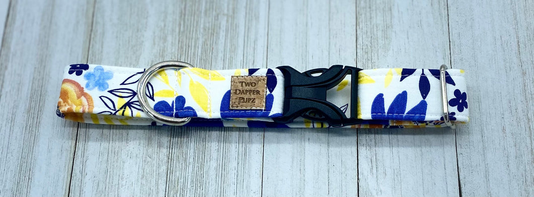 Yellow Floral | Dog Collar